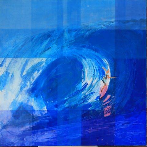 Energy of nature, 100x100cm, Acryl, Leinwand
